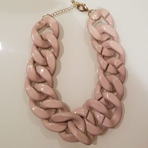 H&M Dusty pink purple link necklace